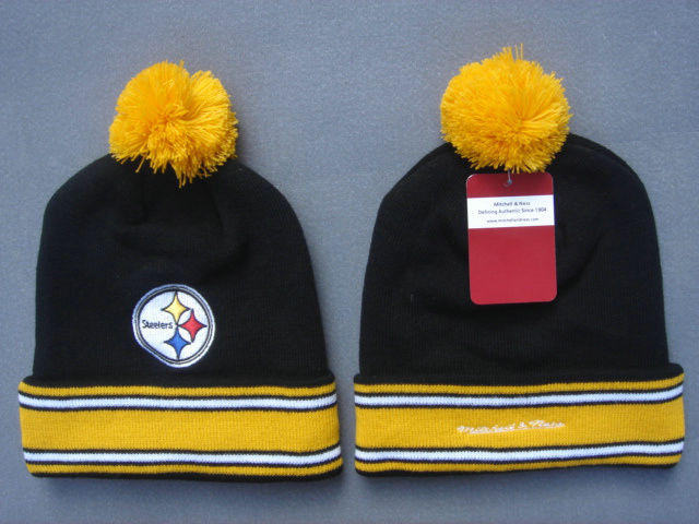 NFL Pittsburgh Steelers Black Beanie 3 SF