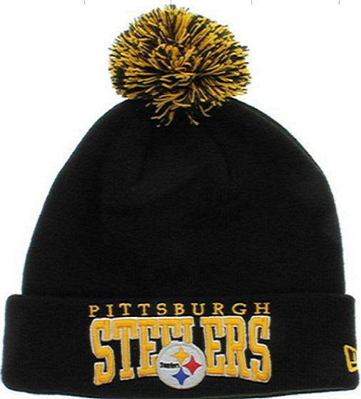 NFL Pittsburgh Steelers Black Beanie JT