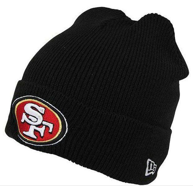 NFL San Francisco 49ers Black Beanie SF