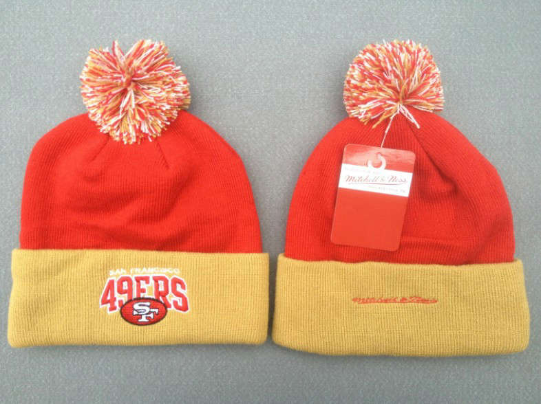 NFL San Francisco 49ers Red Beanie 1 SF