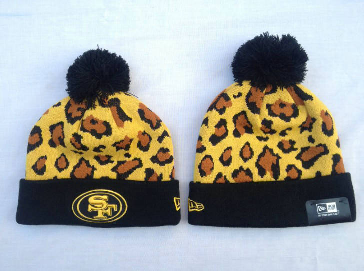 NFL San Francisco 49ers Yellow Beanie SF