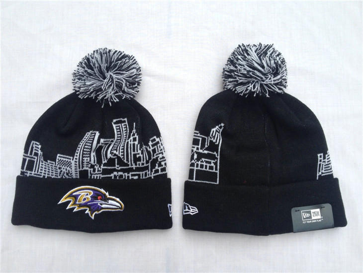 NFL Baltimore Ravens Black Beanie 2 SF