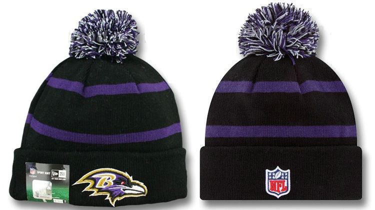 NFL Baltimore Ravens Black Beanie DF