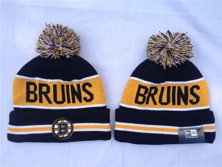 NHL Boston Bruins Black Beanie SF