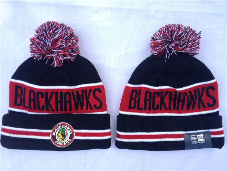 NHL Chicago Blackhawks Black Beanie 1 SF