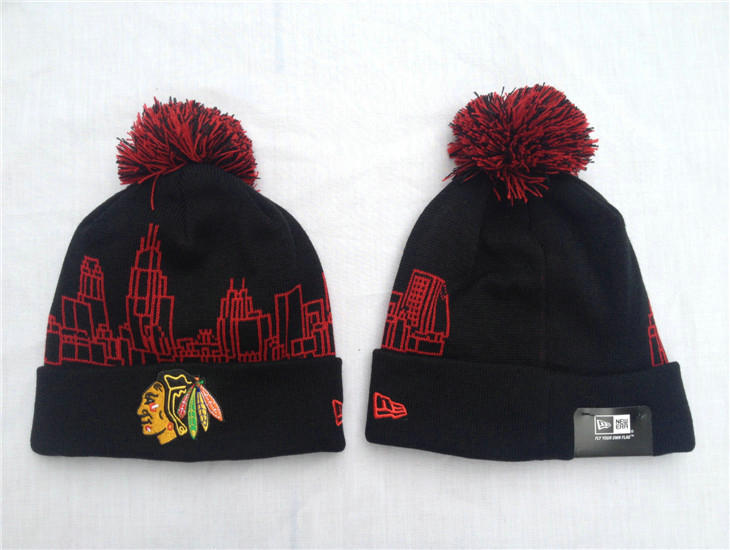 NHL Chicago Blackhawks Black Beanie SF