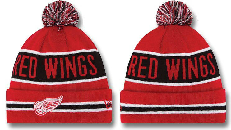 NHL Detroit Red Wings Beanie Red DF