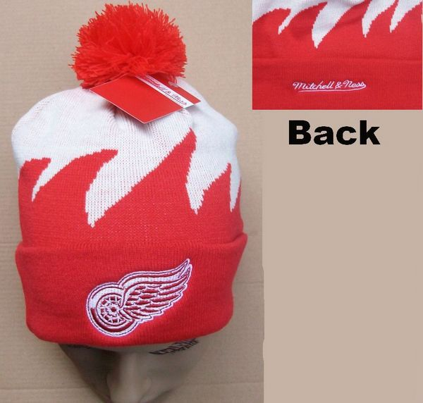 NHL Detroit Red Wings Mitchell&Ness Shark tooth Beanie JT