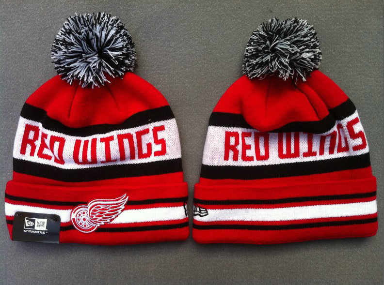 NHL Detroit Red Wings Red Beanie 2 SF