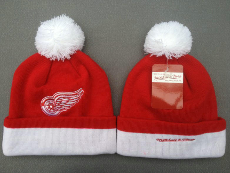 NHL Detroit Red Wings Red Beanie 3 SF