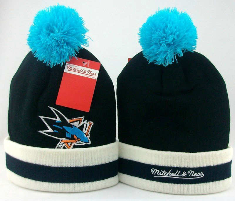 NHL San Jose Sharks Black Beanie JT