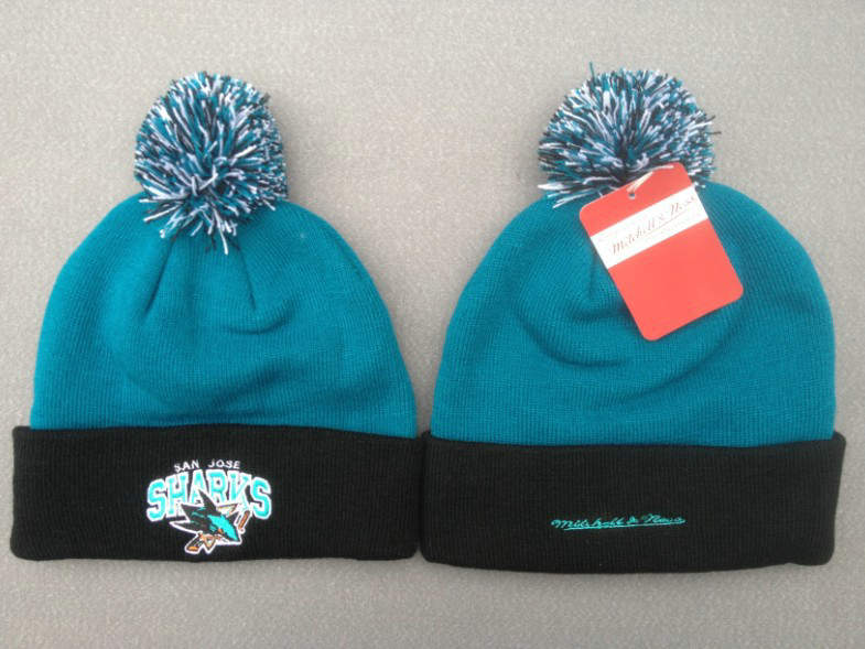 NHL San Jose Sharks Green Beanie SF