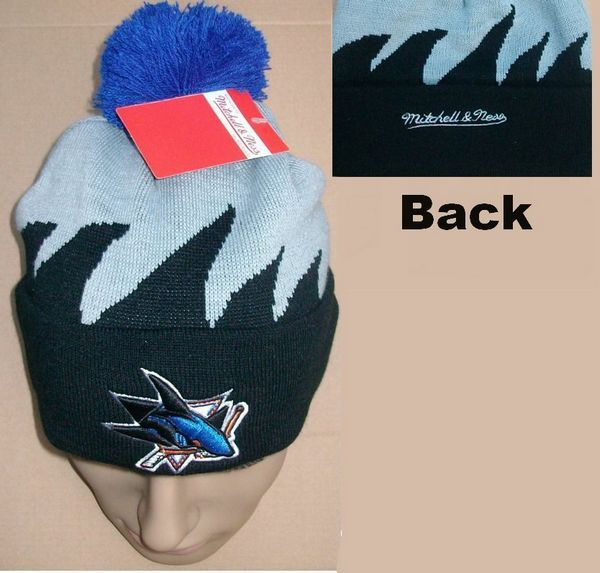 NHL San Jose Sharks Mitchell&Ness Shark tooth Beanie JT