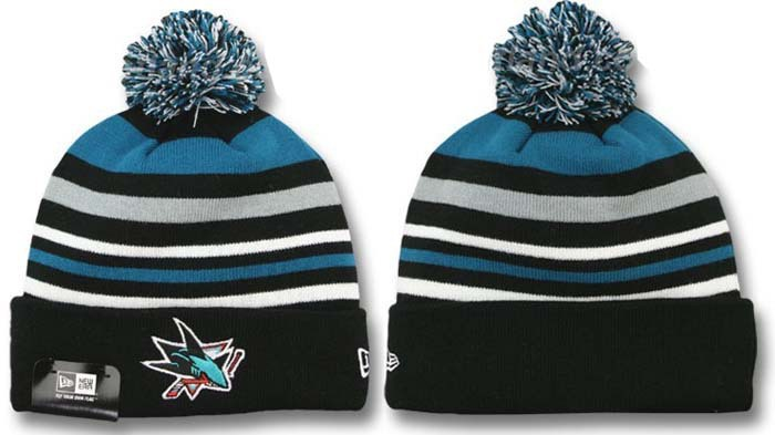 San Jose Sharks Stripe Beanie DF