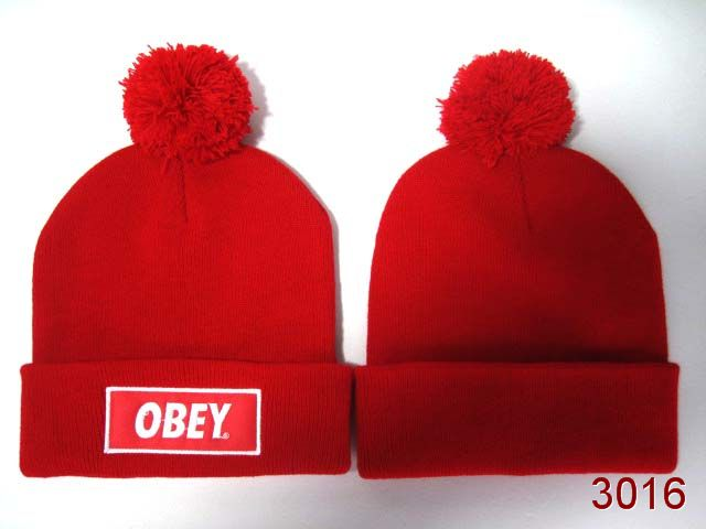 Obey Beanie Red 1 SG