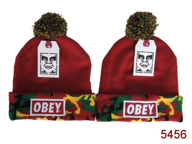 Obey Beanie Red 3 SG