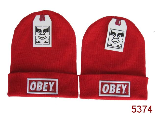 Obey Beanie Red SG