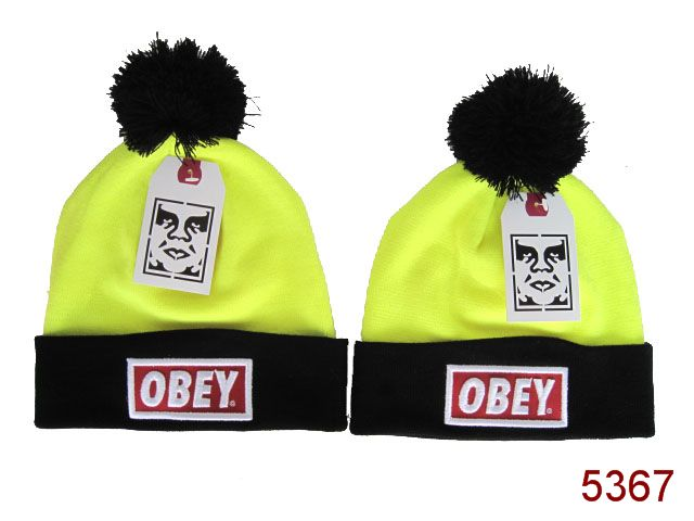 Obey Beanie Yellow SG