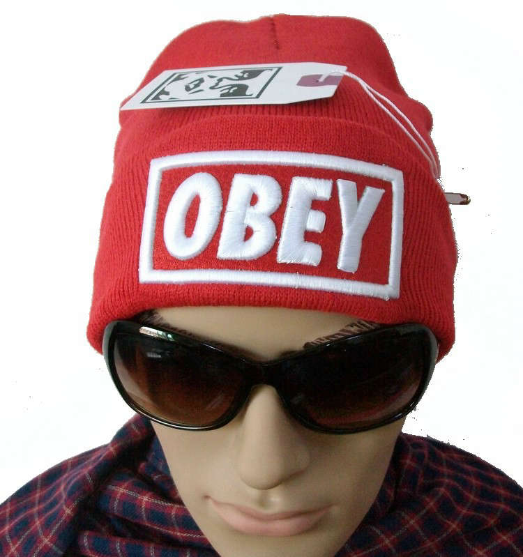 Obey Red Beanie JT
