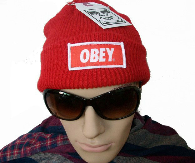 Obey Standard Issue Red Beanie JT