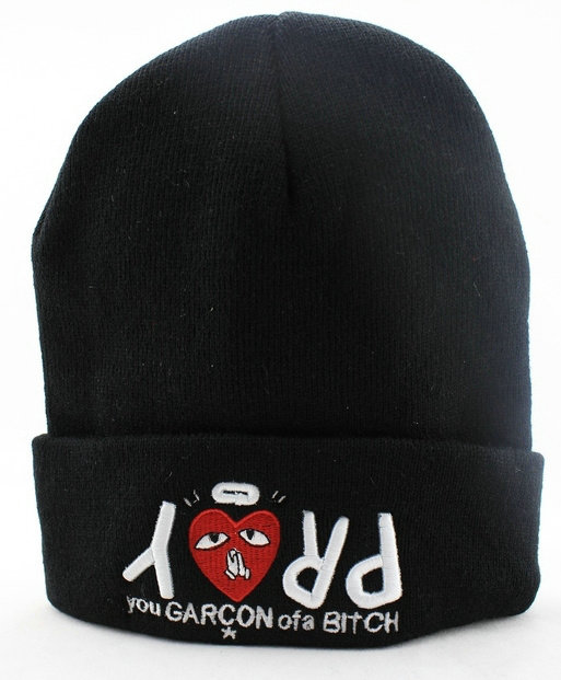 You Garcon ofa Bitch Black Beanie JT 0613