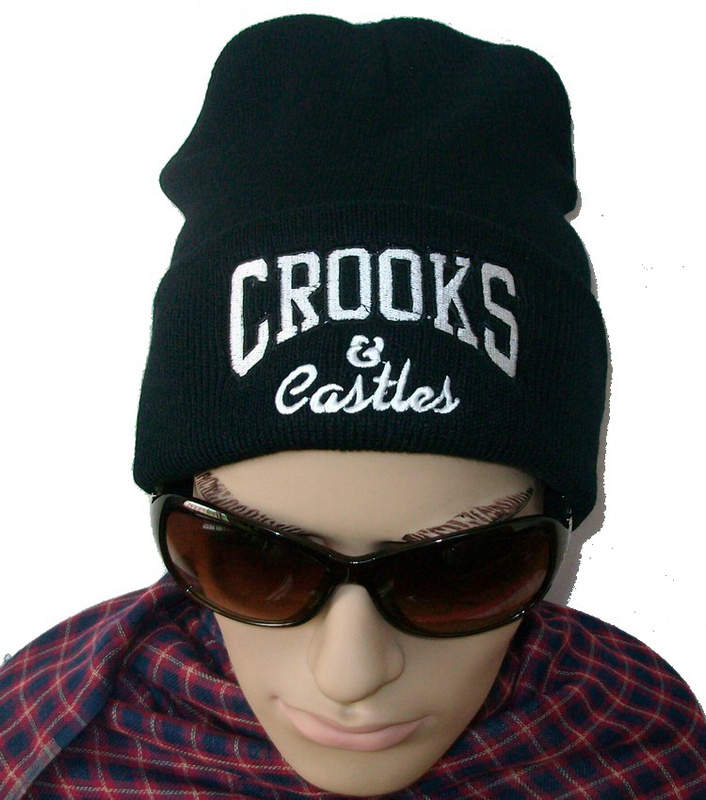 Crooks & Castles Black Beanie JT