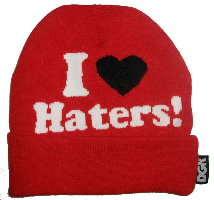 DGK I Love Haters Beanie Red JT