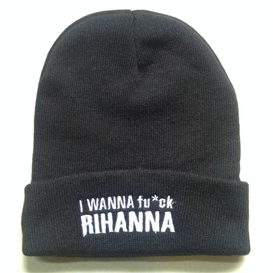 I Wanna fuck Rihanna Beanie SF