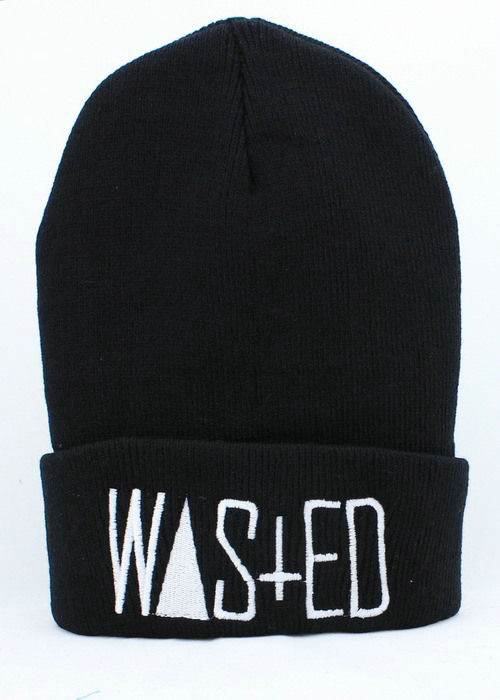 Rum & Koke WASTED Black Beanie JT