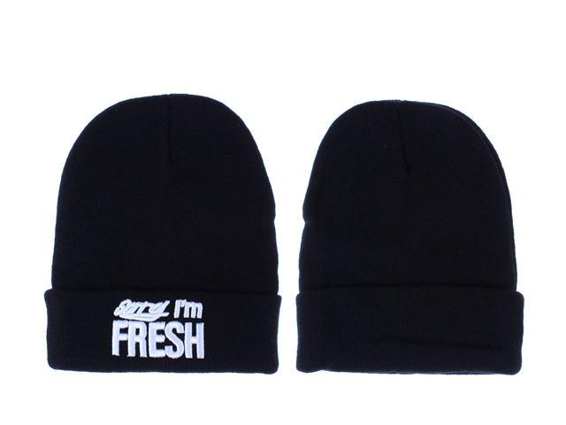 Sorry I am Fresh Black Beanie LX