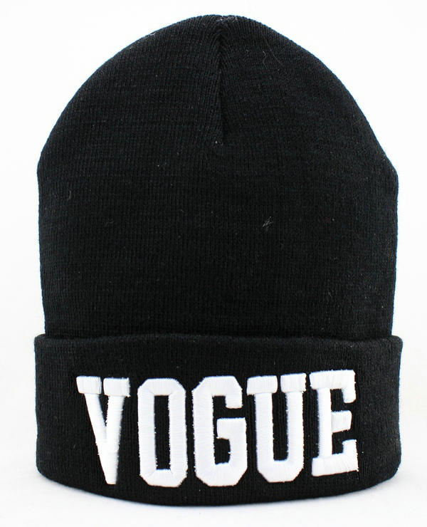 VOGUE Black Beanie 1 JT