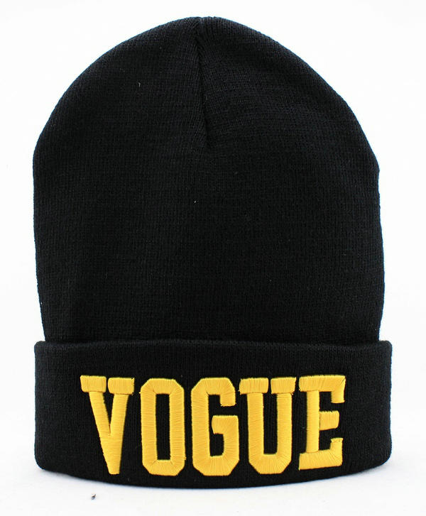 VOGUE Black Beanie JT
