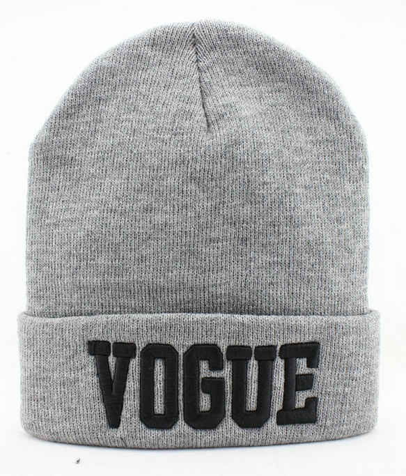VOGUE Grey Beanie JT