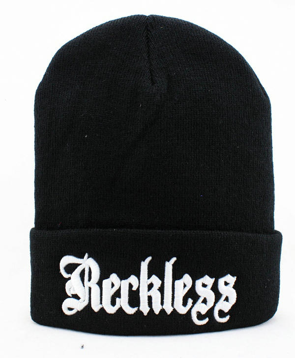 YOUNG AND RECKLESS OLDIE Black Beanie JT