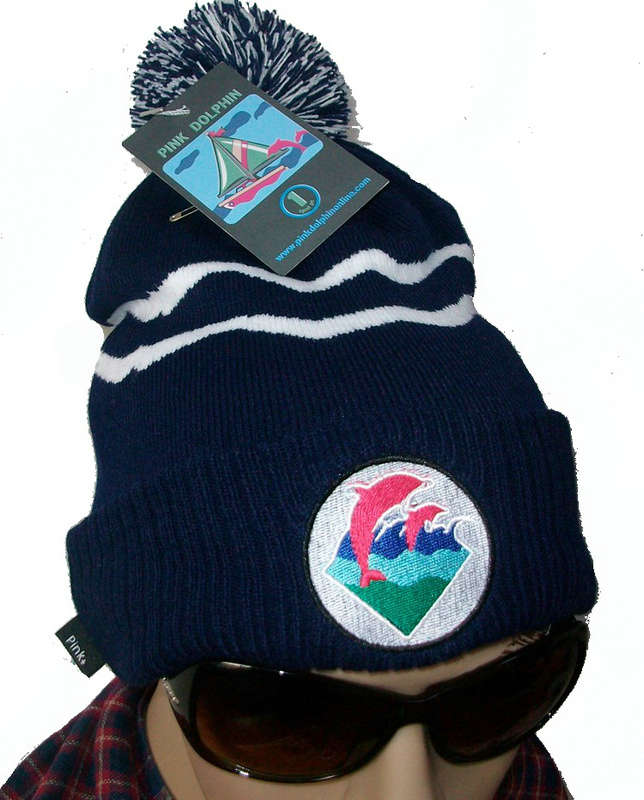 Pink Dolphin Beanie Blue JT