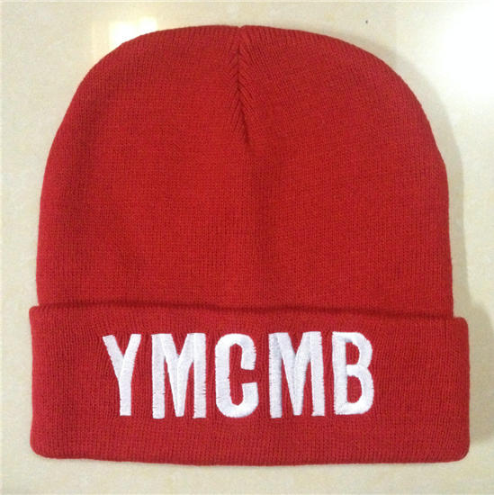 YMCMB Red Beanie SF