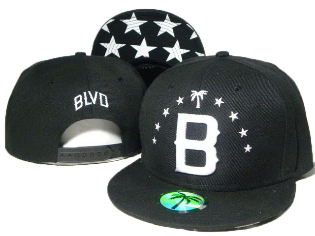 BLVD Black Snapbacks Hat DD 3 0613