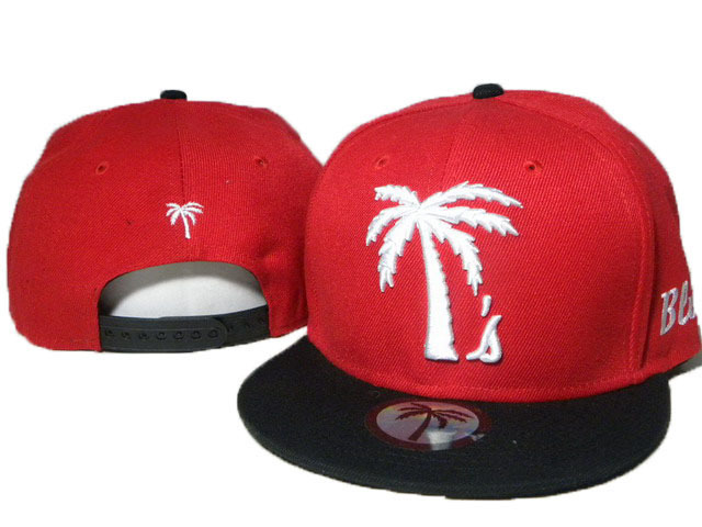 BLVD Red Snapbacks Hat DD 0613