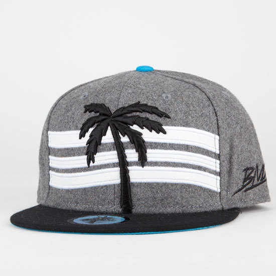 BLVD Grey Snapbacks Hat GF