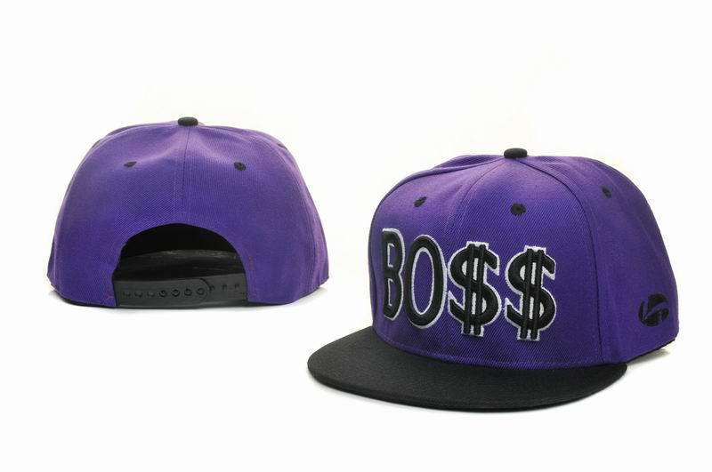 BOSS Purple Snapbacks Hat GF