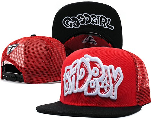Bad Boy Good Girl Snapback Red Hat SD7