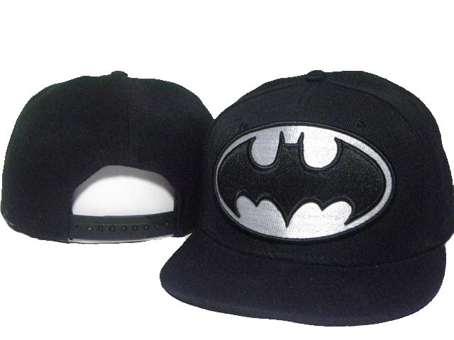 Batman Black Snapback Hat DD 0512