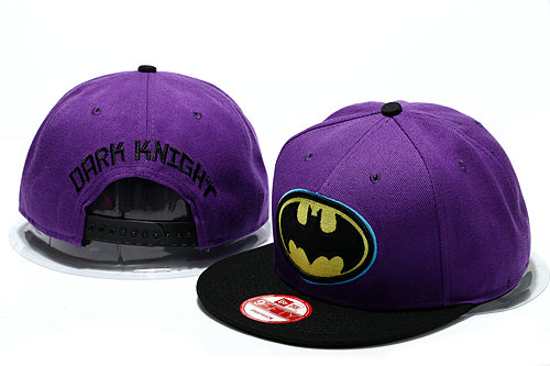 Batman Purple Snapback Hat YS 0512