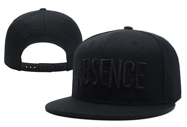 Black Scale Absence Snapback Hat XDF