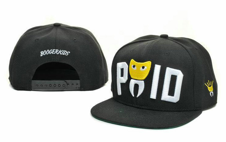 Booger Kids Black Snapbacks Hat GF 3