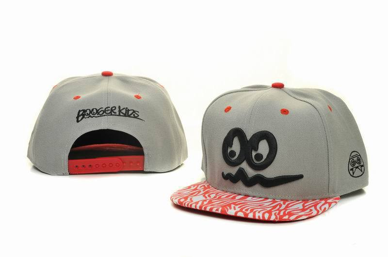Booger Kids Grey Snapbacks Hat GF 1