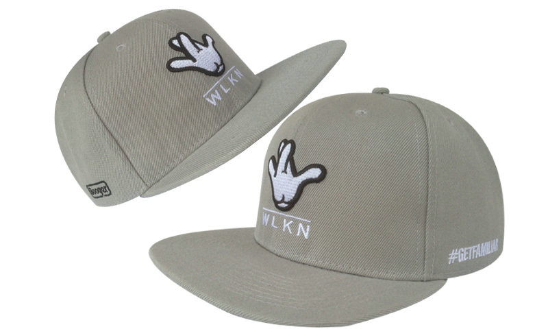 Booger Kids Grey Snapbacks Hat GF