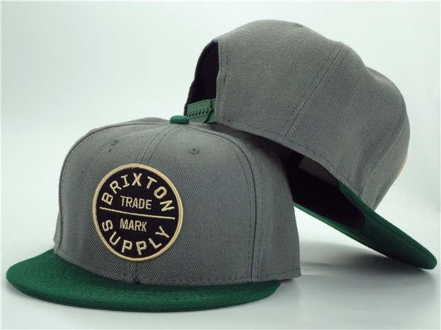 Brixton Grey Snapbacks Hat ZY 1