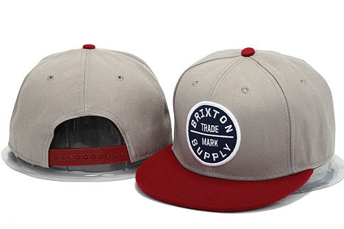 Brixton Grey Snapbacks Hat YS 0606