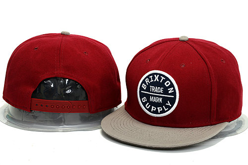 Brixton Red Snapback Hat YS 0613
